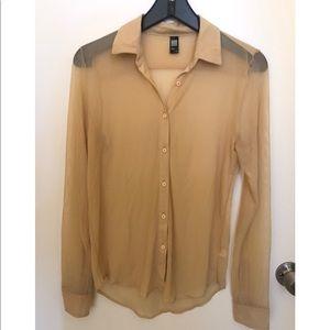 Sheer mesh shirt American Apparel
